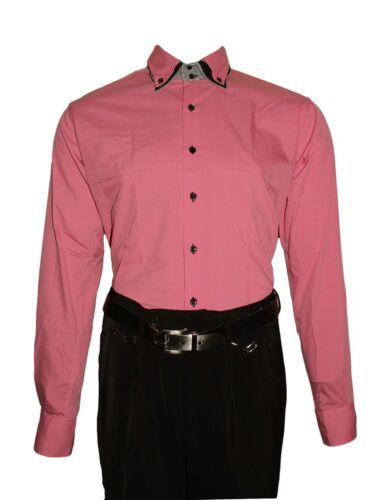 Diseño caballero camisa clásica 3 cuello 2 botón camisa slim fit entallado