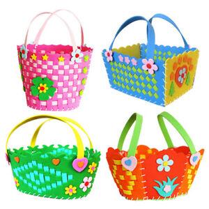 Handmade 3d Eva Foam Basket Children Educational Toy Kids Diy Craft