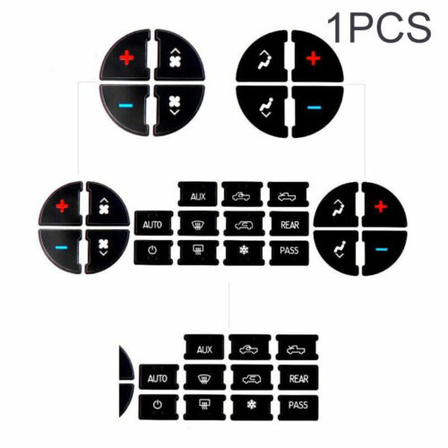 AC Dash Button Repair Kit Decal Stickers Replacement For Buick Enclave 2008-2012