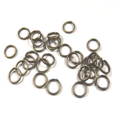 200 Anneaux De Jonction 6mm Doubles Ouverts En Métal Couleur Bronze Connecteurs úLtima TecnologíA