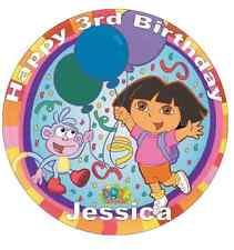"Dora The Explorer Personalised Cake Topper 7.5"" Edible Wafer Paper Birthday"
