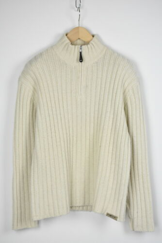 ENERGIE BY SIXTY Men's XL Wool Blend Half Zip Ribb