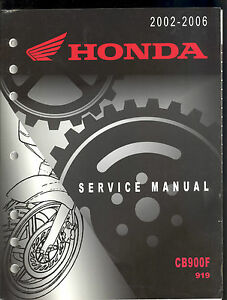 2002 2006 honda cb900f 919 motorcycle factory service manual ebay rh ebay com honda 919 service manual honda cbr 919 service manual