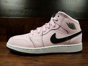 eff1c082522 AIR JORDAN 1 MID AJ1 (Pink Foam   Black   White)  555112-601  GS ...