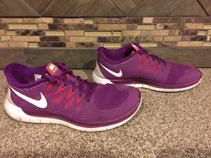 86247540ea2af Womens Nike Free 5.0 Sz 9.5 41 Athletic Shoes Magenta