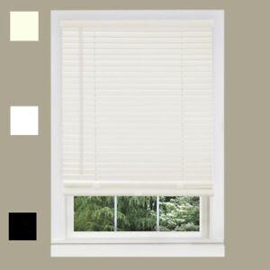 Window Blinds 1 Corded Vinyl Venetian Blinds 64 Height White Alabaster Ebay