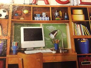 Pottery Barn Kids Cameron Office Desk System Hutch Honey