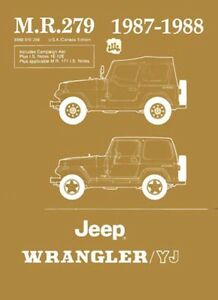 Details about 1987 1988 Jeep Wrangler YJ Shop Service Repair Manual on jeep driveline diagram, jeep engineering diagram, jeep lights diagram, jeep electrical diagram, jeep stock speakers, jeep hoses diagram, jeep exhaust system diagram, jeep o2 sensor wiring, pioneer deh 150mp instalation diagram, jeep wiring harness, jeep pump diagram, jeep shift solenoid, jeep headlight diagram, jeep pulley diagram, jeep relay wiring, jeep turn signal diagram, jeep fuses diagram, jeep wiring time, jeep horn diagram, jeep gas tank vent,