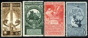 Regno-d-039-Italia-1911-Cinquantenario-Unita-d-039-Italia-S14-n-92-95-l446
