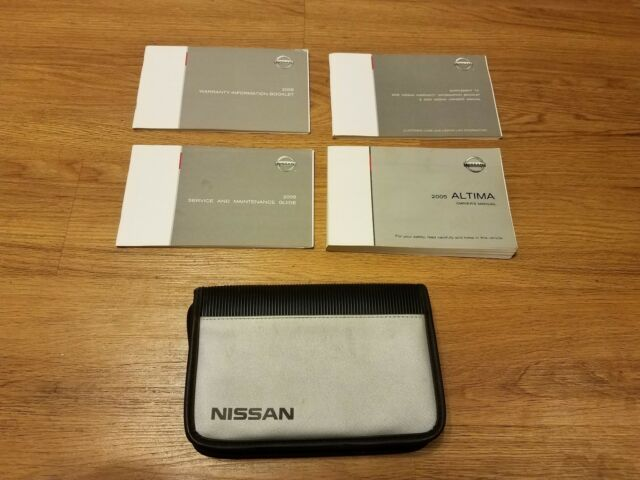 2005 Nissan Altima Owners Owner Manual
