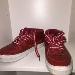 f8bd047914 Men s Size 9.5 VANS HUF HALF CAB 1992 3 feet high RED SNAKESKIN ...