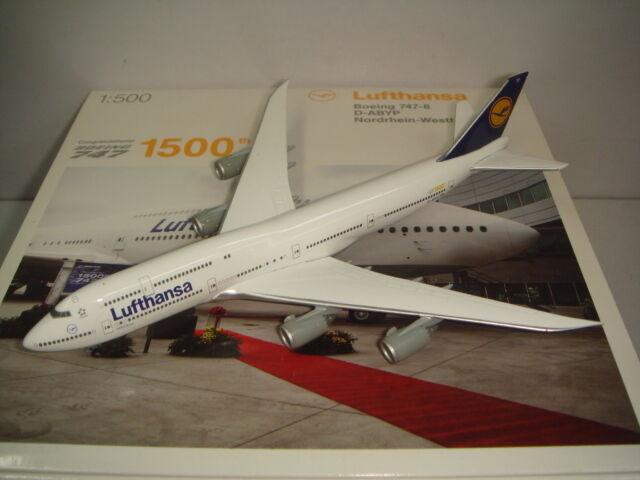 Herpa Wings 500 Lufthansa LH B747-8  1990s color - Nordrhein-Westfalen  1:500 NG