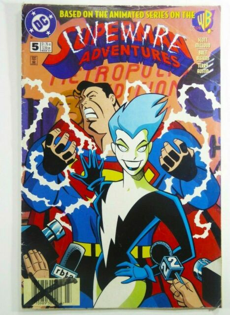 DC Comics SUPERMAN ADVENTURES 1996 #5 Key 1st LIVEWIRE App NEWSSTAND Ships FREE!