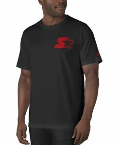 Starter-Mens-T-Shirt-Black-Size-Large-L-Logo-Crewneck-Short-Sleeve-Tee-35-015