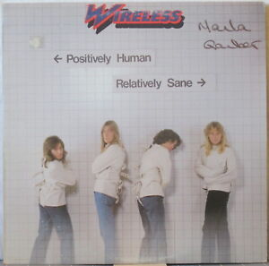 WIRELESS Positively Human Relatively Sane LP Canadian Rock – on Anthem Records