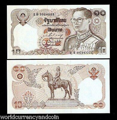 THAILAND 10 Baht 1980 P87 Sign 66 King Rama IX UNC Banknote