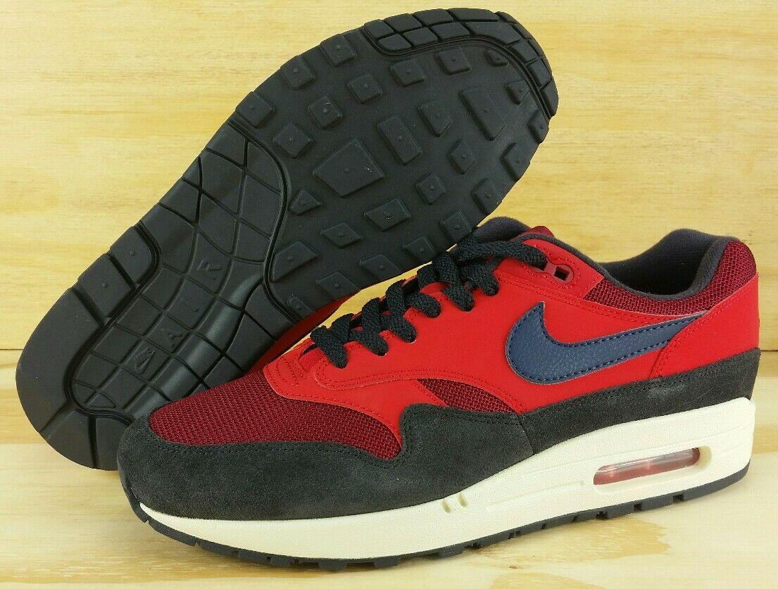 Nike Air Max 1 CLASSIC RED CRUSH MIDNIGHT NAVY AH8145-600 NEW 2018 Men's Size 9