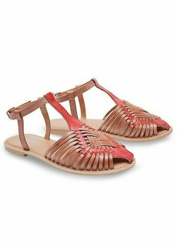RRP £50-57R425 Joe Browns Leather Sandals Cool And Casual Tan Brown