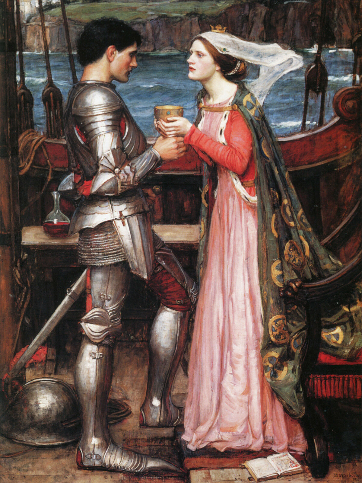 Tristan And Isolde - Waterhouse - CANVAS OR PRINT WALL ART