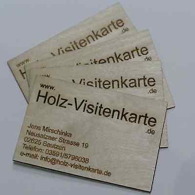 Visitenkarten Aus Holz Holzvisitenkarte Visitenkarte Ebay