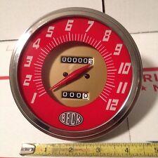 Beck Red Face Speedometer 224060 Ratio Harley Shovelhead Evolution