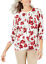 Karen-Scott-Women-039-s-Small-Floral-Print-Cardigan-Sweater-Tan-Red-New-with-Tag-14 thumbnail 1