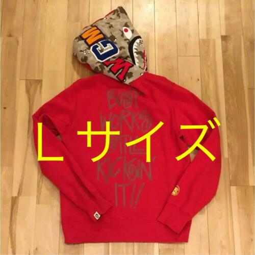 Red Men L Parka Large 20th Anniversary Hoodie Bape Shark Ape Bathing A Limited xW7vwqU1S