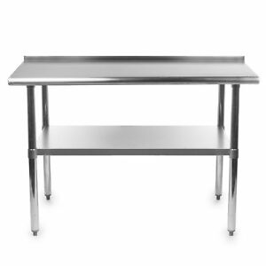 Commercial Kitchen Work Tables Gridmann stainless steel commercial kitchen prep work table w gridmann stainless steel commercial kitchen prep work table w backsplash 72x30 workwithnaturefo