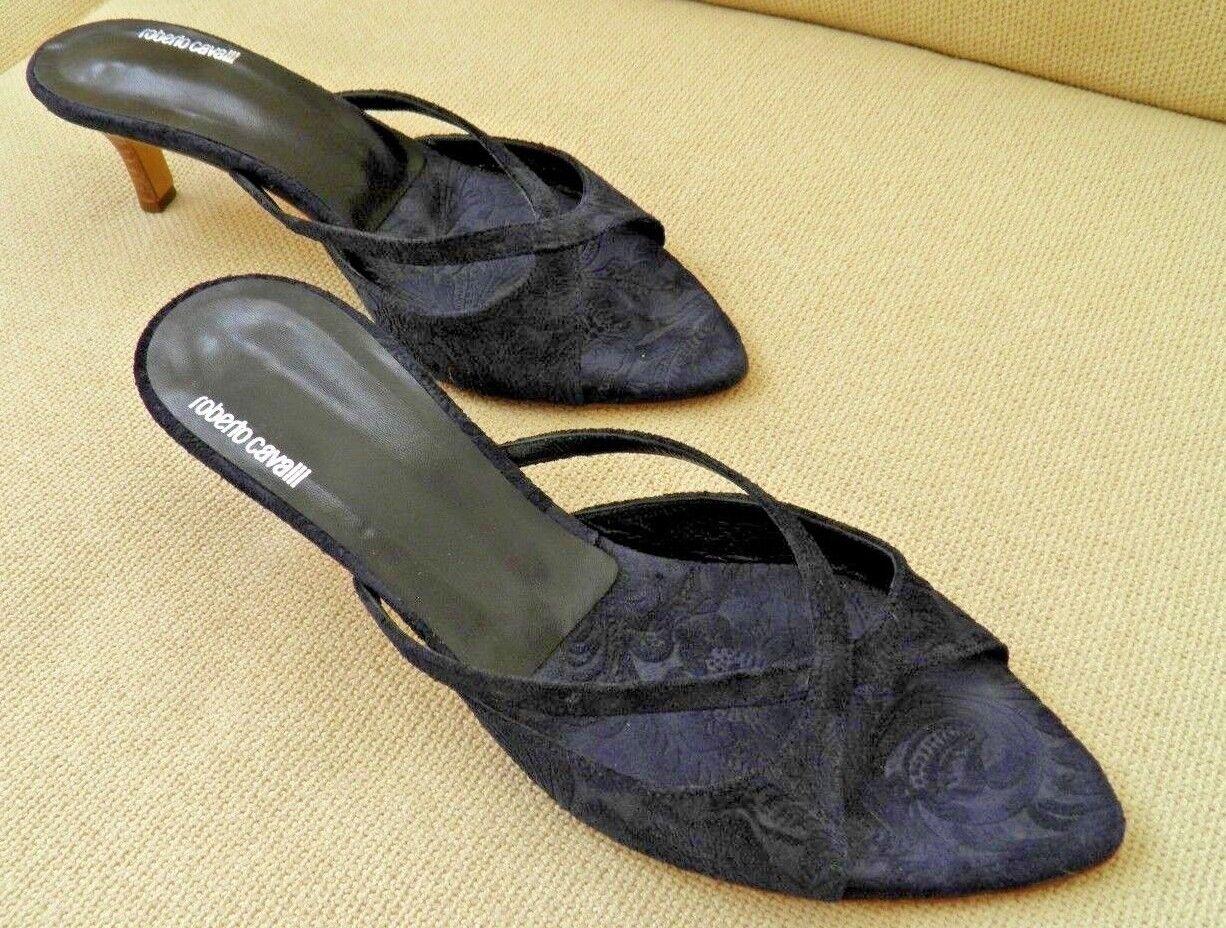 risparmia fino al 70% di sconto ROBERTO CAVALLI NAVY blu SUEDE SLIDES MULES STRAPPY STRAPPY STRAPPY SANDALS scarpe 39 9  presa