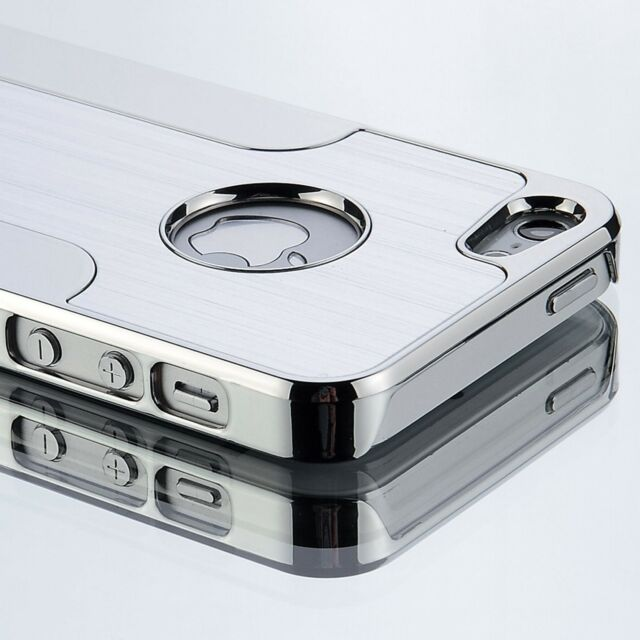 Luxury Aluminum Chrome Hard Cover Case For iPhone 5 5S +Screen Protector+Stylus