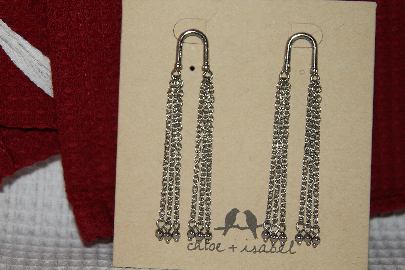 Chloe & Isabel Earrings (new) WATERFALL TASSEL EARRINGS (E446MESR)