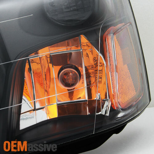 Fit 2003-2004 Subaru Forester SG Black Bezel Headlights Headlamps Replacement