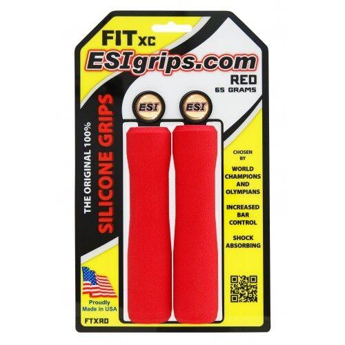65g Red ESI FIT XC Silicone MTB Mountain Bike Bicycle Handlebar Bar Grips