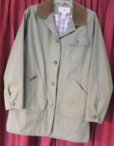 Khaki Kvinders Jacket Barn Bean Lined Green Field M Cotton Sz l 100 Coat Vtg L wnOqUYx0AW