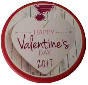 2017-ST-LOUIS-BLUES-RED-RARE-HAPPY-VALENTINE-039-S-DAY-NHL-OFFICIAL-HOCKEY-PUCK