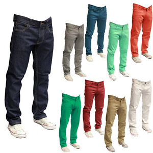 Image is loading NEW-MEN-WT-02-COLOR-TWILL-SPAN-PANTS-