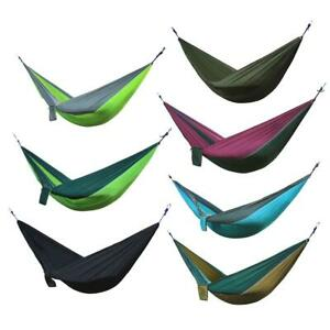 Nylon Double Person Hammock Adult Camping Travel Outdoor Hunting Sleeping Bed