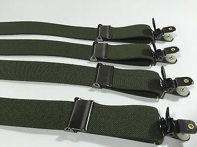 DESERT TAN Military Style 4-Pack Shirt Stay Garters with the No Slip Clip
