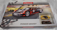 Carrera Evolution Power Boost 1/32 Scale Slot Car Race Track Set Analog 25206