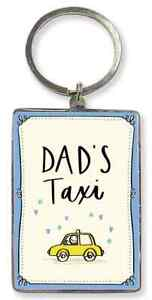 Dad's Taxi Key Ring. Gift For Dad. Fathers Day, Christmas, Birthday