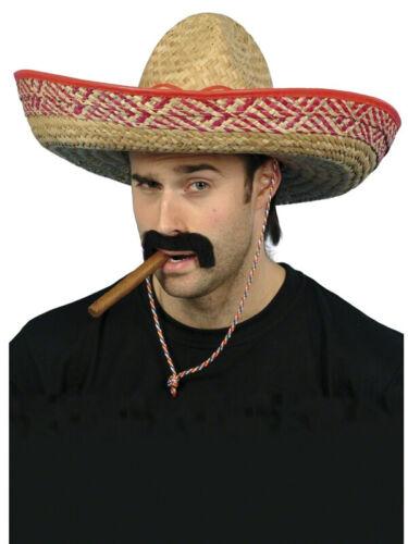 Sombrero Hats Mexican Bandit Large Straw Hat Wild West Cowboy Gringo Adult Child