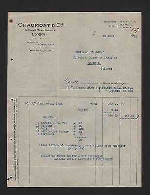 Obligatorisch Lyon, Rechnung 1932, Chaumont & Cie. Ballons Torchons