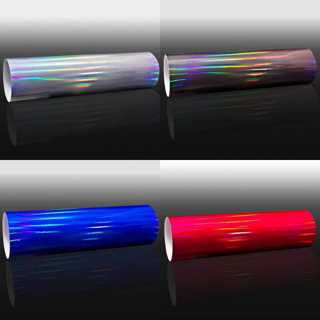 Holographic Laser Chrome Vinyl Wrap (Air Bubble) Free All Größes