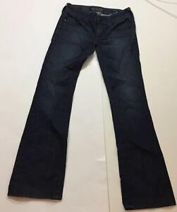 AFFLICTION RAQUEL Woman Jeans Denim Skinny Fit Dark Whip Stitch Non Stretch *26