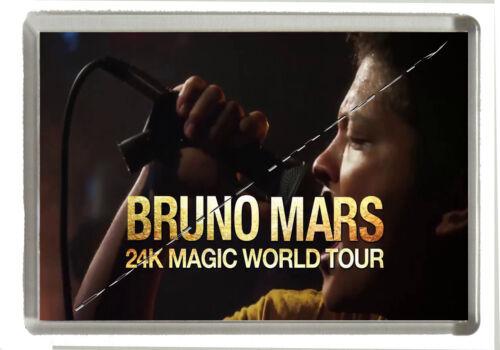 Bruno Mars Fridge Magnet Jumbo Size 90mm x 60mm