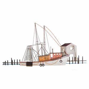 Details About Ti Design Dimensional Metal Wall Art Calabash Nc Shrimper Shrimp Boat 47