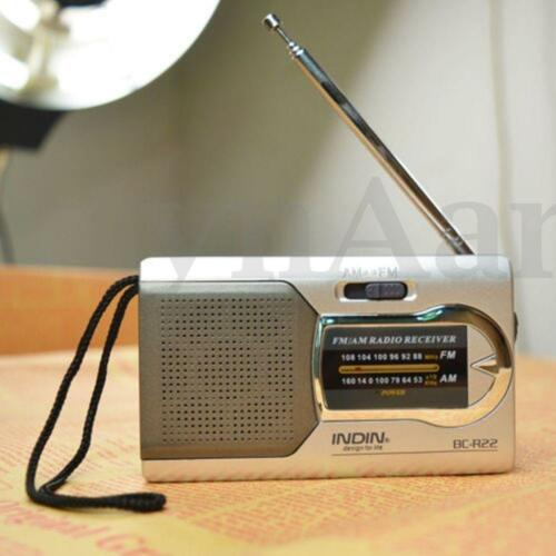 Portable Radio Mini AM//FM Telescopic Antenna Radio Pocket World Receiver GA