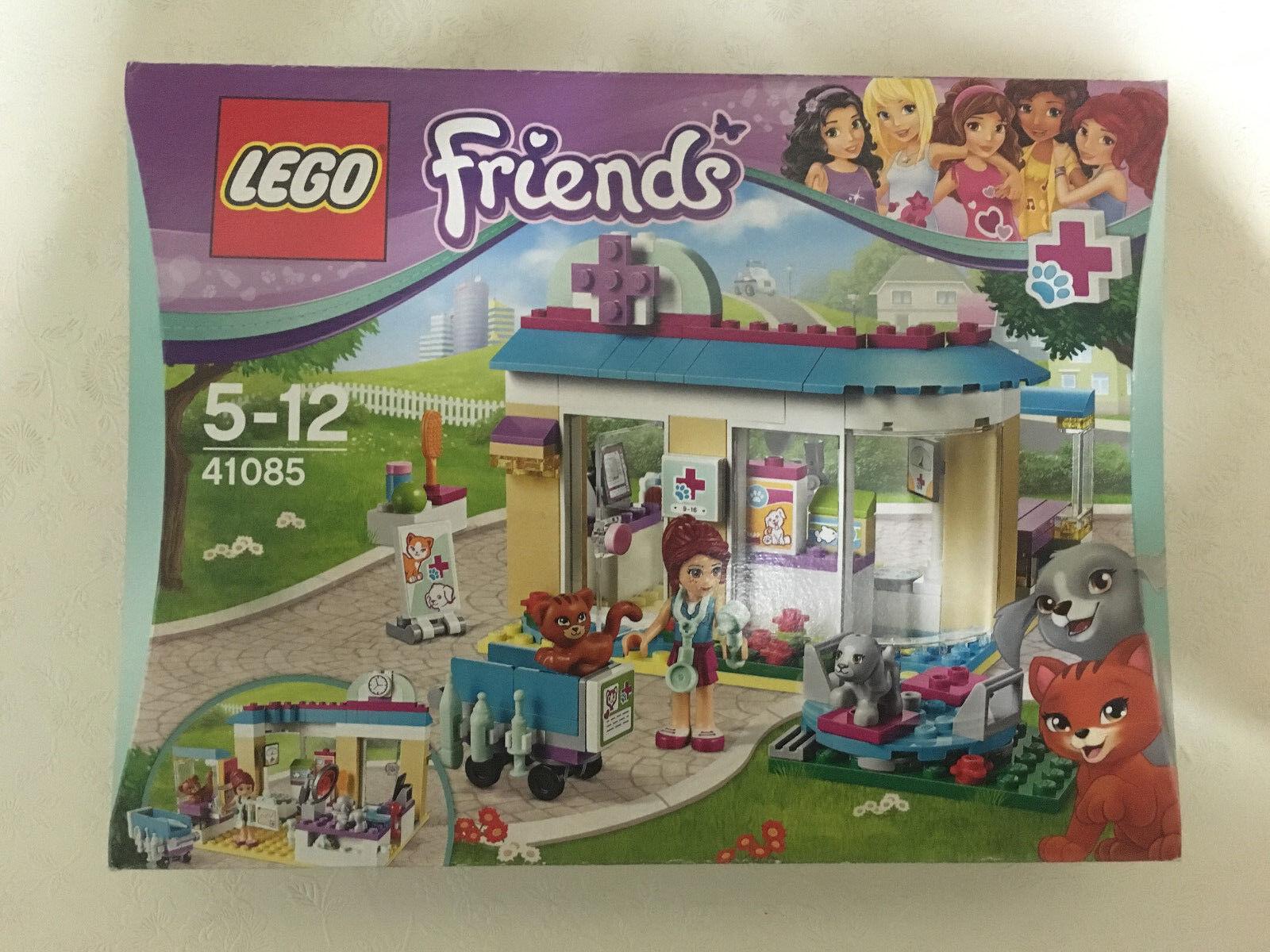 LEGO 41085 FRIENDS VET CLINIC 2015 RETIrot ANIMAL CARE MIA CAT DOG  CHRISTMAS