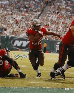 Doug-Martin-Autographed-16x20-Vertical-Running-Photo-JSA-W-Authenticated