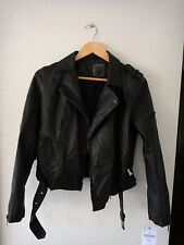 Cazadora perfecto polipiel negra Zara // Zara faux leather black biker jacket